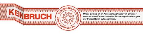 Wir sind eingetragenes Errichterunternehmen der Polizei Berlin.